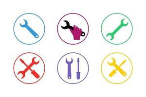 colorido conjunto de iconos de reparación vector