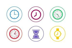 Colorful Time Icon Set vector