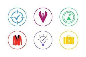 colorido conjunto de iconos de éxito vector