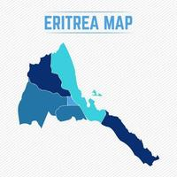Eritrea Detailed Map With Cities vector