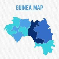 Guinea Detailed Map With Cities vector