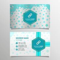 Geometric Blue Mosaic Business Card Template vector