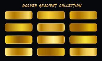 Golden Gradients Swatches Set vector