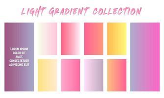 conjunto de muestras de gradientes de luz vector