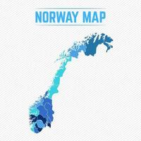 Norway Detailed Map With States vector
