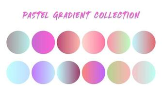 Pastel Gradient Swatches Set vector