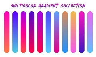 Multicolor Gradients Swatches Set vector