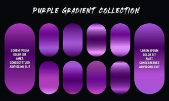 Purple Gradients Swatches Set vector
