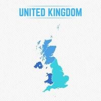 United Kingdom Detailed Map With Countries vector