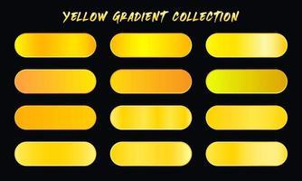 Yellow Gradients Swatches Set vector