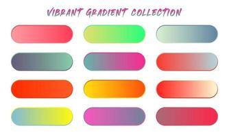 Vibrant Gradient Colors Swatches Set vector