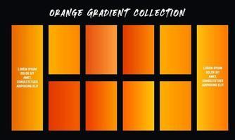 Orange Gradients Swatches Set vector