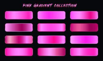 Pink Gradients Swatches Set vector