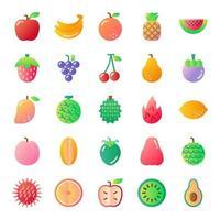 fruit gradient vector icons