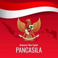 Pancasila Day Design Concept vector