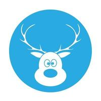Simple illustration of Christmas deer Concept for Christmas holiday vector