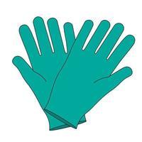 par de guantes. equipo de látex esterilizado para trabajadores médicos vector