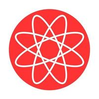 Atom icon illustration Simple atom medical symbol vector