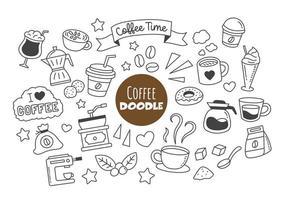coffee kawaii doodle vector