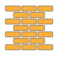 Simple illustration of brick wall in trendy design style vector