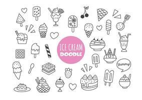 ice cream kawaii doodle vector