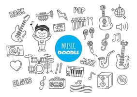 music kawaii doodle vector