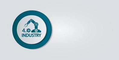 Industry 4.0 icon,Technology concept.vector illustration vector
