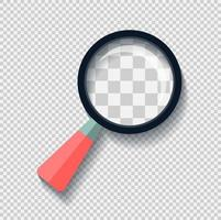 Magnifying glass with long shadow black,Simple design style.vector illustration vector
