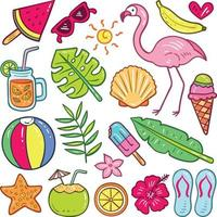 Summer Element Collection vector