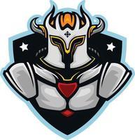illustration of Royal Knight mascot vector
