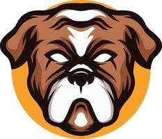illustration of angry Bulldog mascot vector