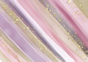 abstract hand painted background with gold glitter vector