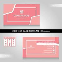 Pink modern name and business card template Bundle with 3 icon set vector