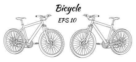 dibujo de bicicleta en estilo de dibujos animados vector