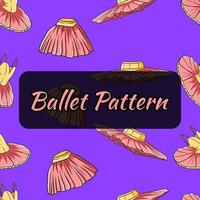 Ballet-themed pattern. Dance tutus and dresses. Seamless pattern. vector