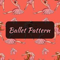 Ballet-themed pattern. Ballerinas and pointe shoes. Seamless pattern. vector