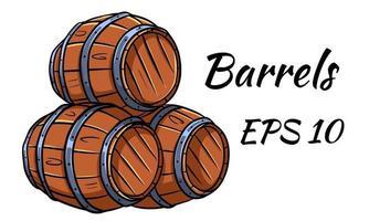 barril para vino o cerveza. vector