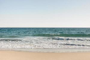 Beach ocean in summertime photo
