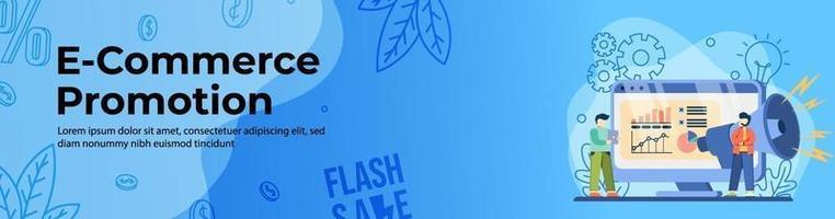 E-commerce Promotion Web Banner Design vector