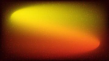 agitando microchip de circuito rojo y naranja sobre fondo de tecnología, diseño de concepto digital y de conexión de alta tecnología, espacio libre para texto, ilustración vectorial. vector