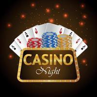 Vip luxury background of casino gambling game vector