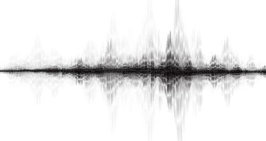 onda de terremoto moderna escala de richter baja y alta sobre fondo de papel blanco, concepto de diagrama de onda de audio, diseño para la educación y la ciencia, ilustración vectorial. vector