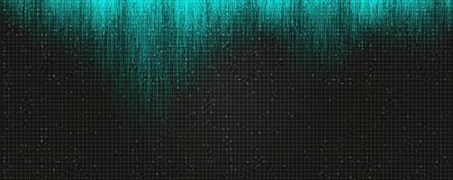 Abstract Blue Light Circuit Microchip Technology on Black Future Background,Hi-tech Digital Sound wave and Studio Concept design,Vector illustration. vector