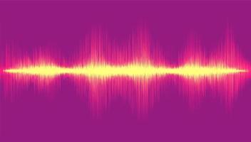 Light Digital Sound Wave on Violet Background,Technology Wave concept,design for music studio and science,Vector Illustration. vector