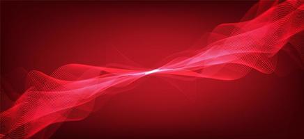 Fondo de escala de Richter bajo y alto de onda de sonido digital rojo sangre, diagrama de onda de tecnología y terremoto y concepto de corazón en movimiento, diseño para estudio de música y ciencia, ilustración vectorial. vector
