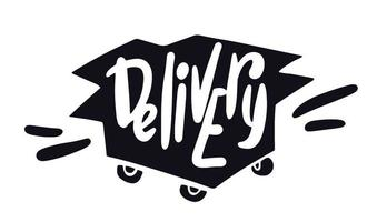 Doodle delivery service. vector