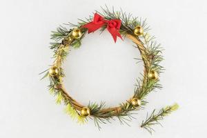 Christmas wreath table photo
