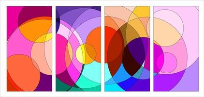 Vector colorful abstract fluid and geometric psychedelic background
