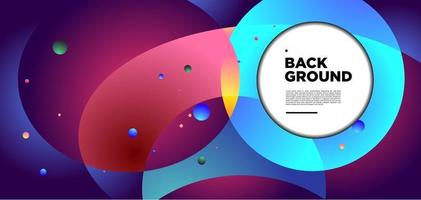 Vector colorful abstract circle and geometric psychedelic space background