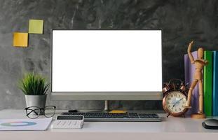 maqueta de oficina de escritorio foto